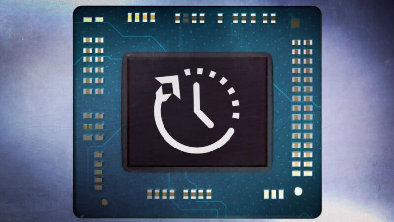 Ilustración estilizada del componente de la computadora.