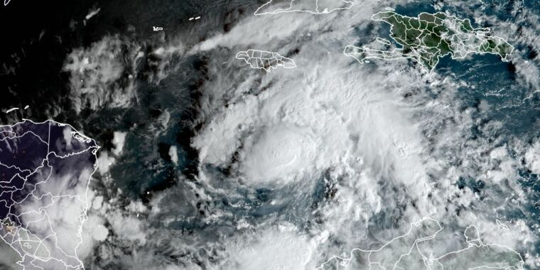 Eta forms, tying Atlantic record for most tropical systems in a season thumbnail