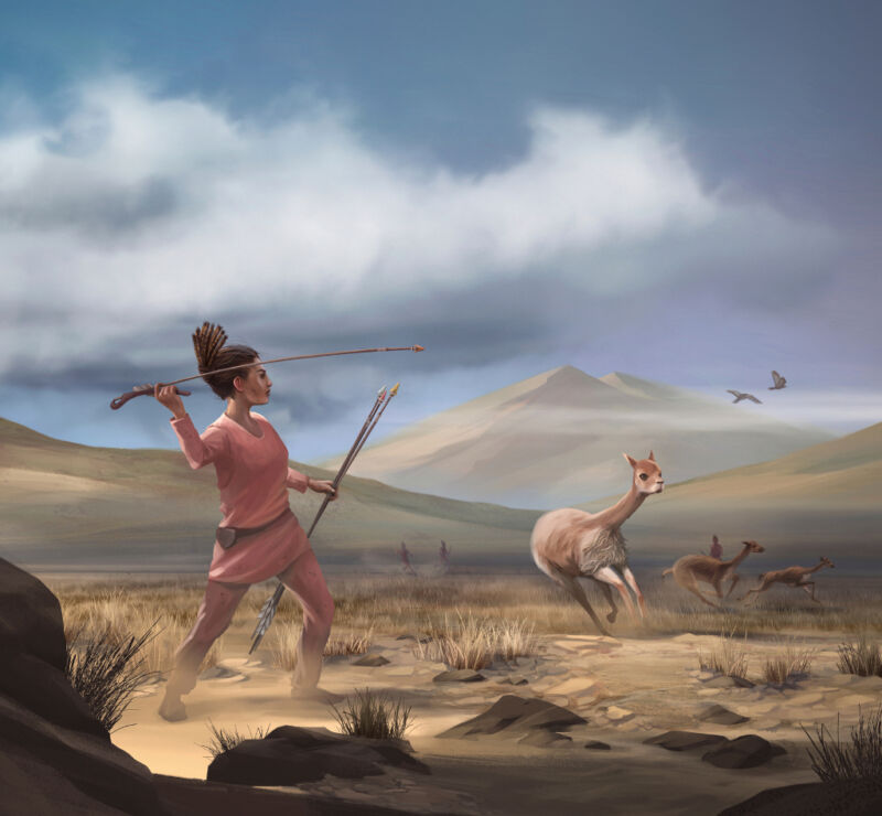 This ancient big-game hunter was a woman