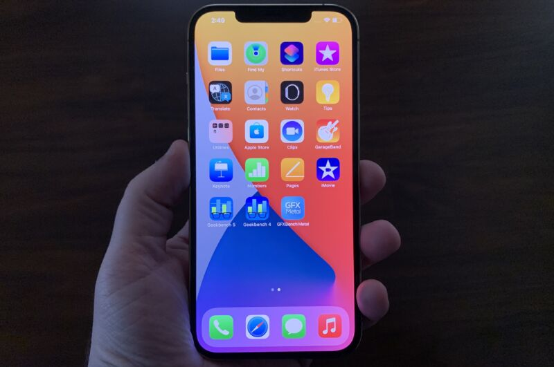 The screen on the iPhone 12 Pro Max