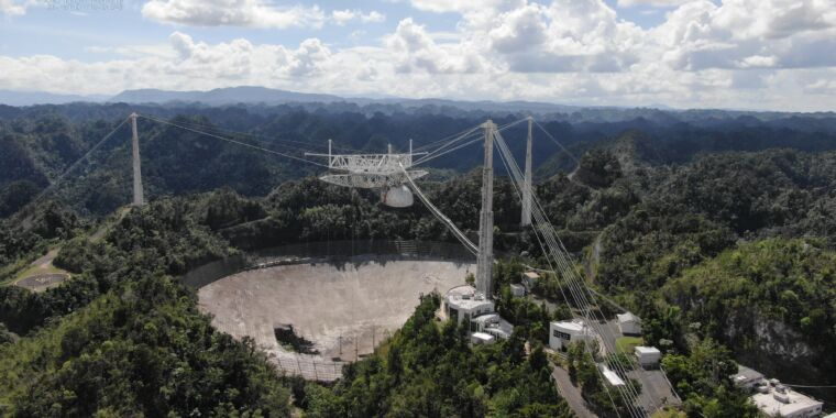 Big dish of Arecibo observatory has reached the end of the line – Ars Technica