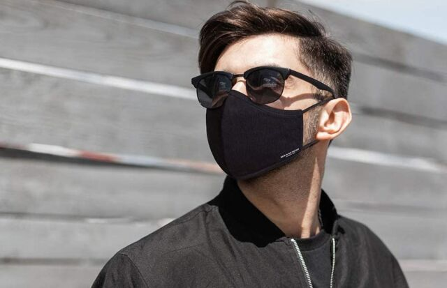 Kenneth Cole's cotton face masks have six layers with a multi-layer non-woven filter in the middle, checking all the boxes (and then some) for an excellent fabric mask.
