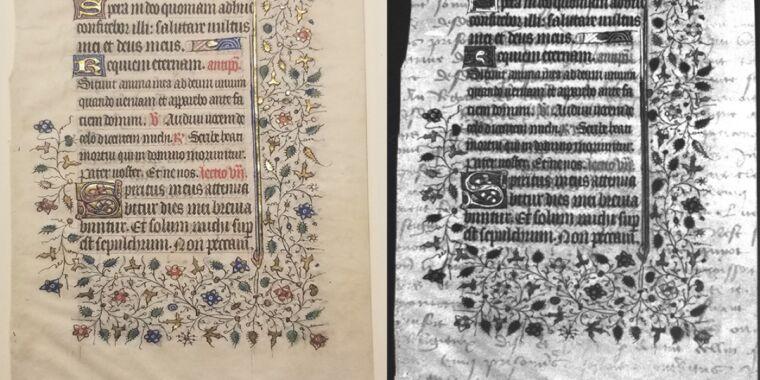 College undergrads find hidden text on medieval manuscript via UV imaging thumbnail