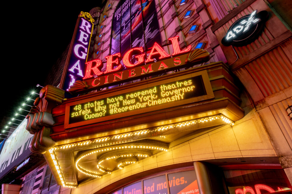 The Times Square Regal Cinema begs to be allowed open in October, 2020, but what movies would it even play?