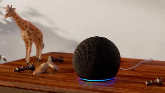 The 4th generation Amazon Echo Dot smart speaker.
