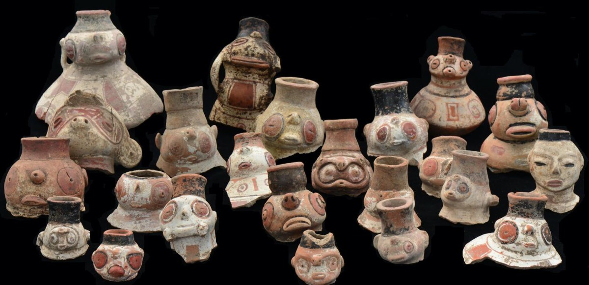Some archaeologists pointed to dramatic shifts in Caribbean pottery styles as evidence of new migrations. But genetics show all of the styles were created by one group of people over time. These effigy vessels belong to the Saladoid pottery type, ornate and difficult to shape.