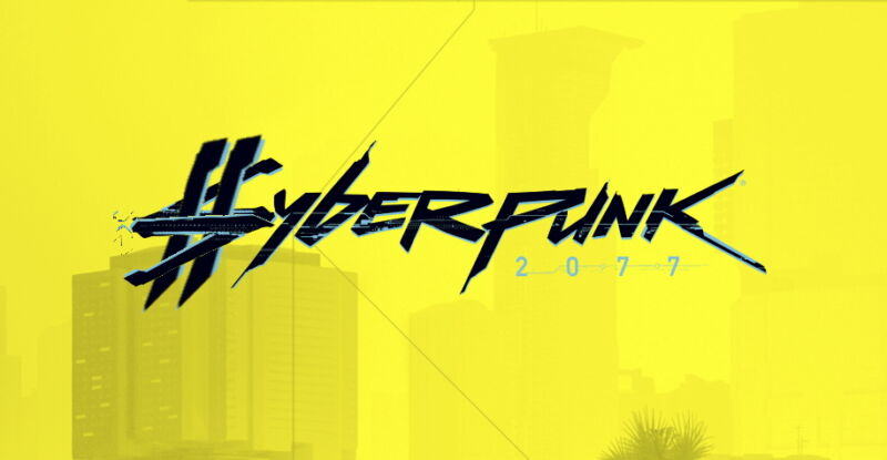 Logo for new video game Cyberpunk 2077.
