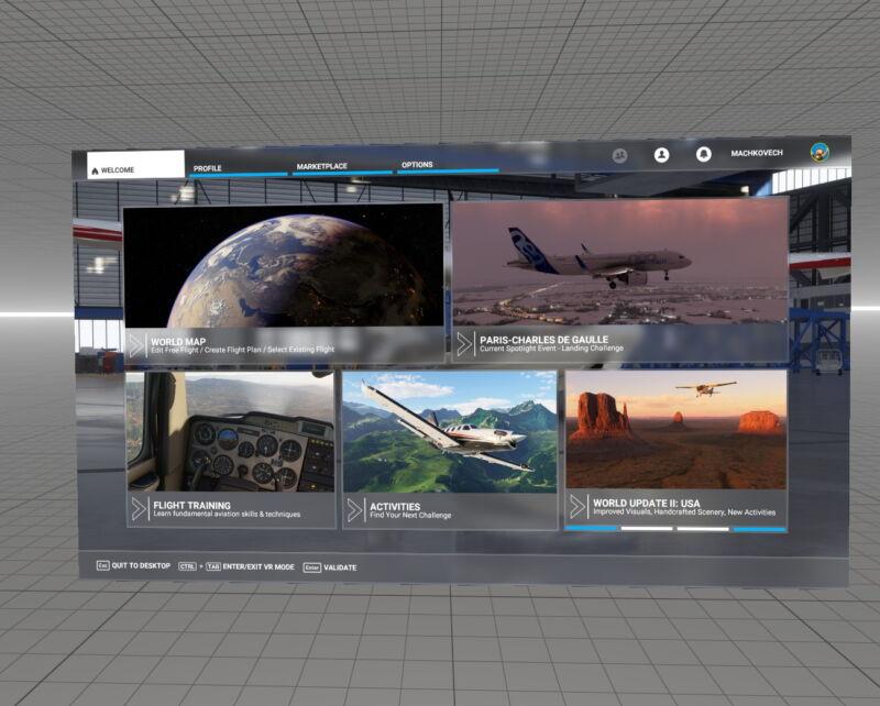 Screenshot of video game menu.