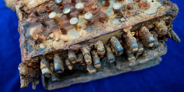 Rusty but intact: Nazi Enigma cipher machine found in Baltic Sea