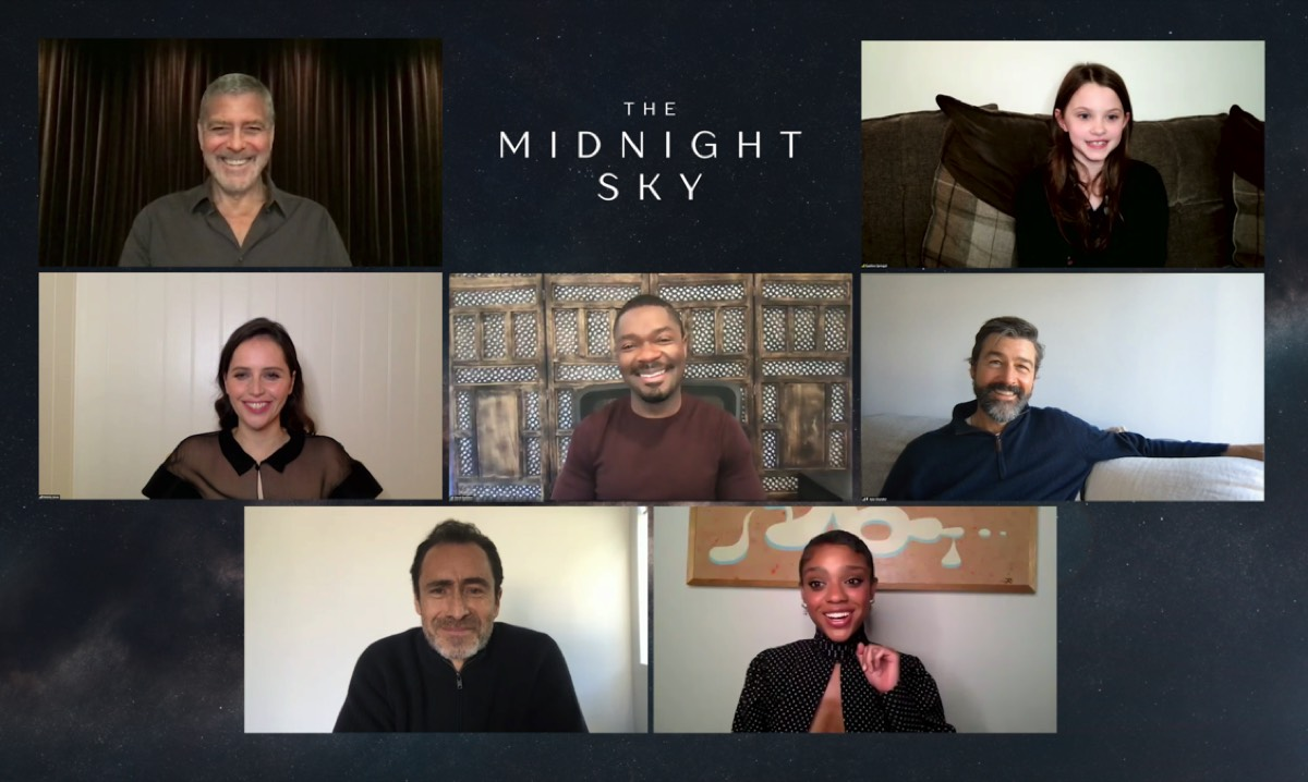 Director George Clooney and assembled cast members answered questions via Zoom about the new Netflix feature film, <em>The Midnight Sky</em>.