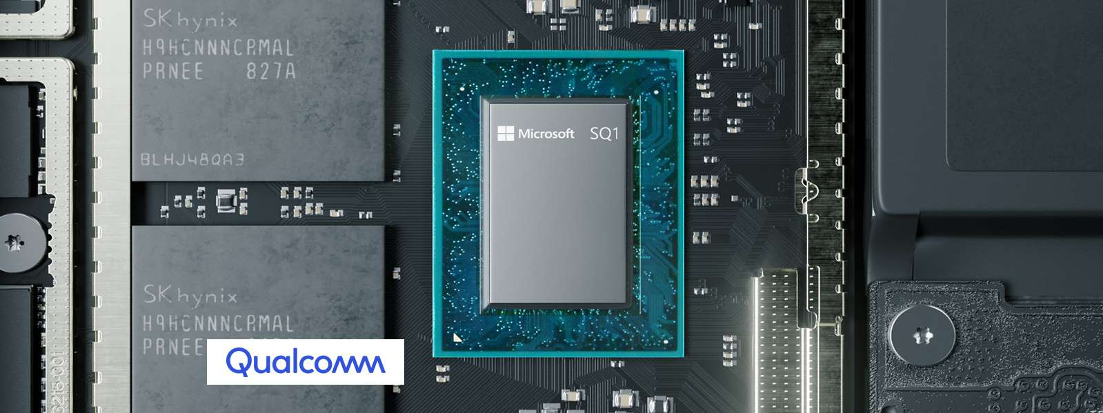 Microsoft collaborated with Qualcomm on the SQ1 processor in its Surface Pro X laptops.