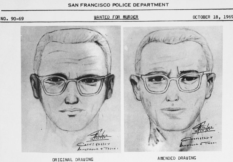 Composite drawings of the Zodiac Killer.