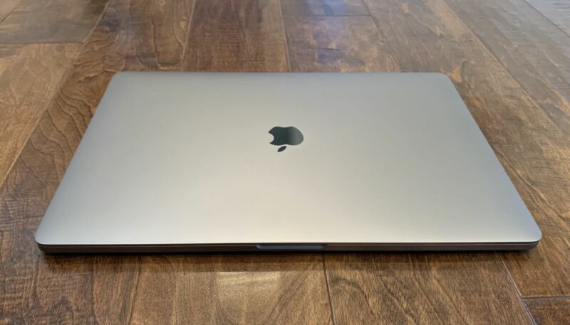A 16-inch MacBook Pro with the lid closed