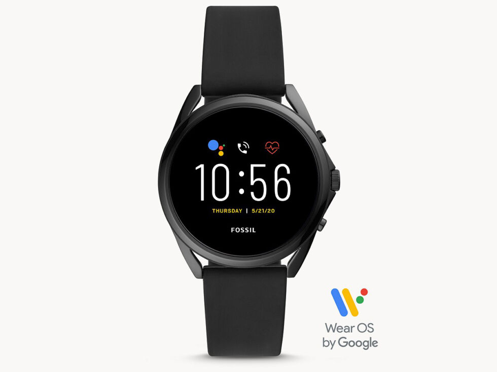 The Fossil Gen 5 LTE, a Wear OS smartwatch announced in 2021 with the same CPU as a smartwatch from 2014.