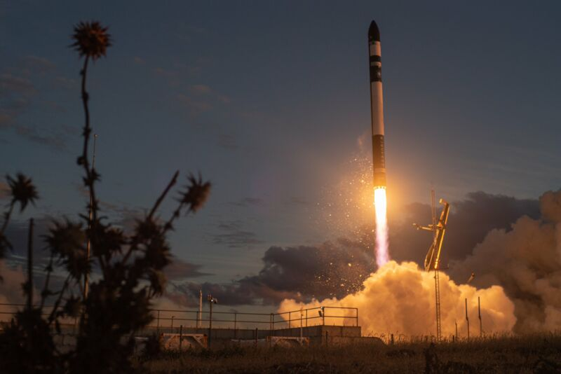"Rocket Lab's first mission of 2021 was named ""Another One Leaves The Crust."""
