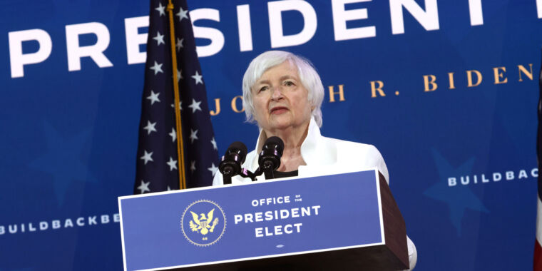 Treasury nominee Yellen is looking to curtail use of cryptocurrency -