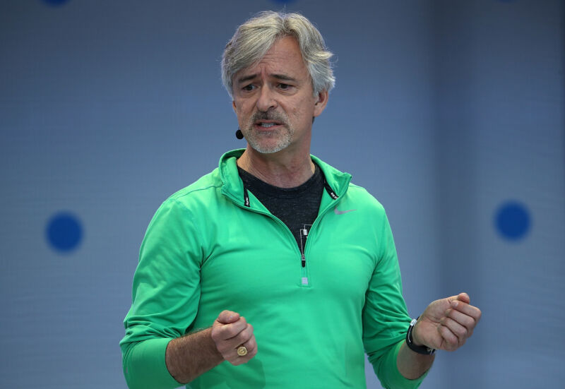 Waymo CEO John Krafcik speaks in 2018.