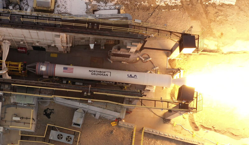 Northrop Grumman conducted a validation test of its GEM 63XL rocket motor on Jan. 21 at its Promontory, Utah, facility.