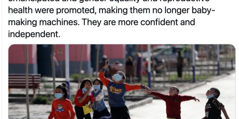 """Twitter takes down China's """"baby-making machines"""" tweet on Uighur women thumbnail"""