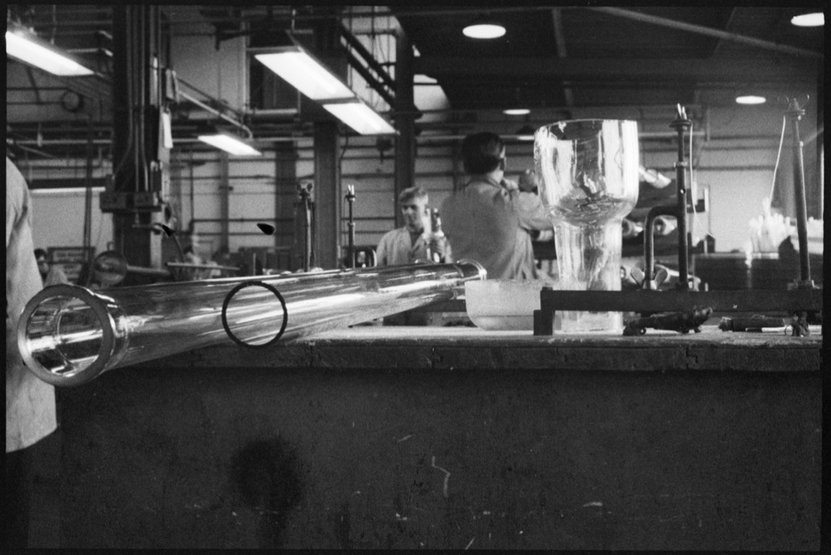 Laboratory glassware being manufactured at the Wear Flint Glass Works, 1961.