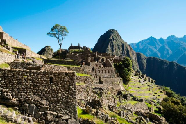Peru. Machu Picchu. Ruins of Inca Empire City And Huayna Picchu Mountain In Sacred Valley.