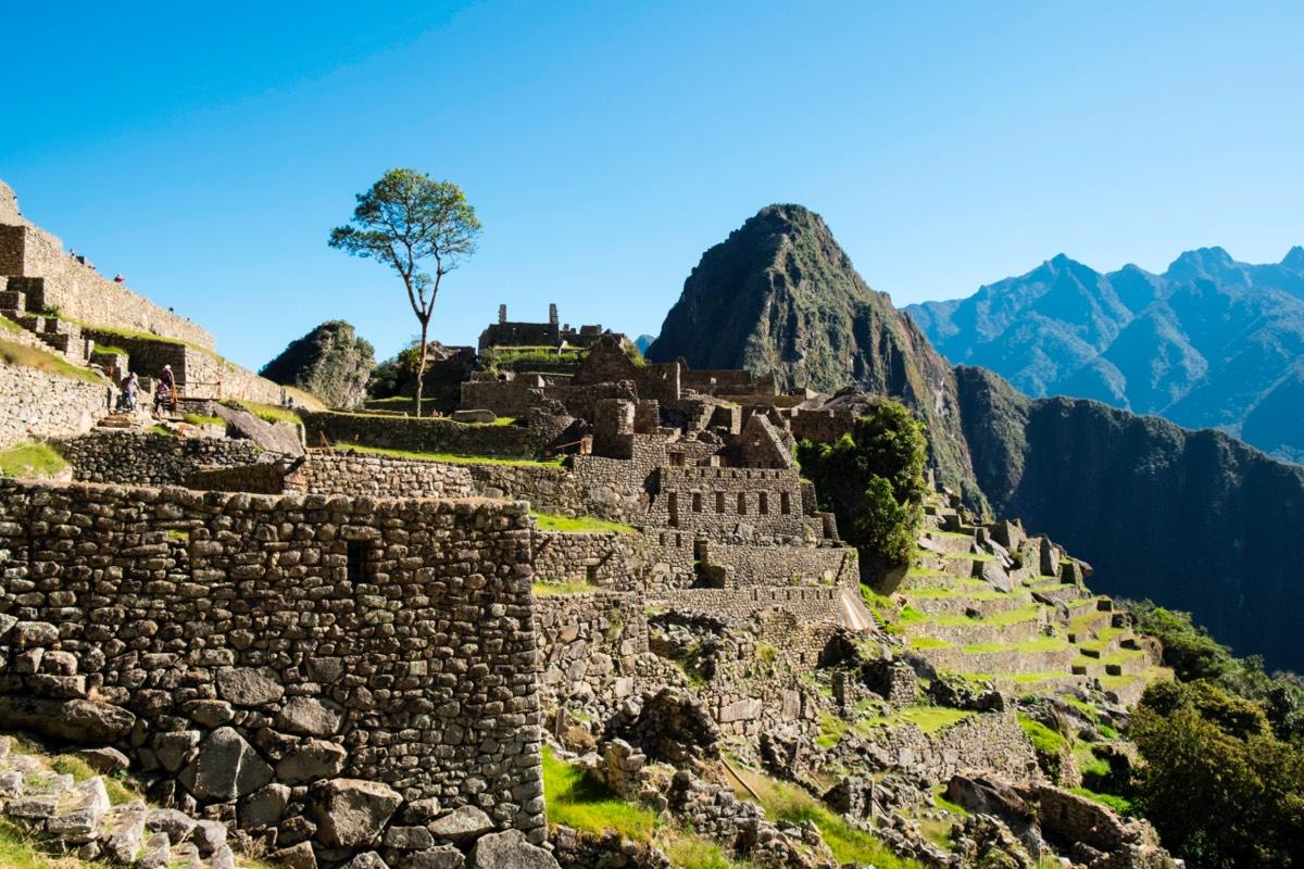 Peru. Machu Picchu. Ruins of Inca Empire City and Huayna Picchu Mountain in Sacred Valley.