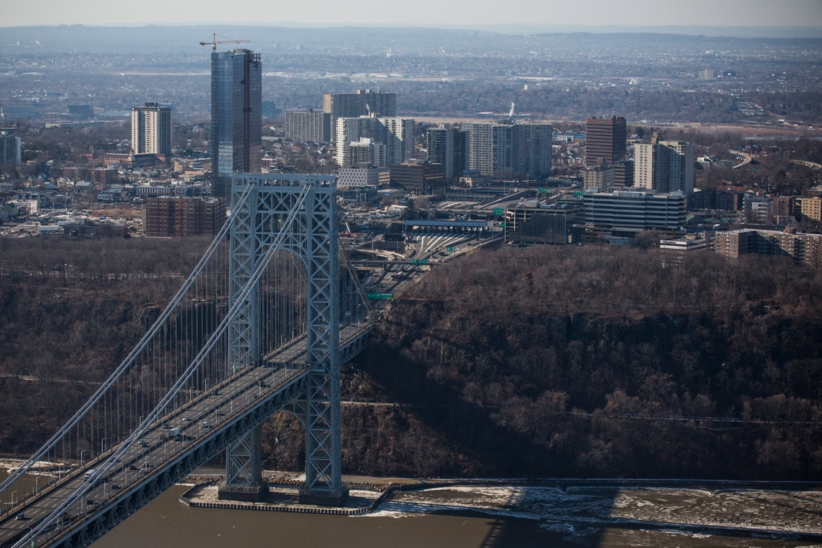 "The New Jersey side of the George Washington Bridge, connecting Fort Lee, NJ, and New York City. It was central to ""Bridgegate""—a bona fide factual conspiracy."