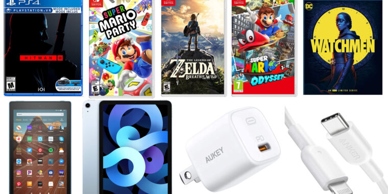 Today's best tech deals: Lots of Switch games, Fire HD tablets, and more