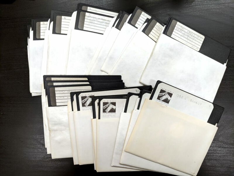 The <em>Days of Thunder</em> NES prototype source code on these disks sat in a programmer's basement for 30 years before being uncovered upon his death.