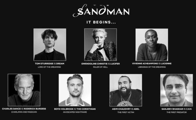 Netflix has announced several cast members for its forthcoming adaptation of Neil Gaiman's graphic novel series, <em>The Sandman</em>.
