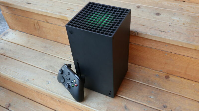 The Xbox Series X, which launched in November.