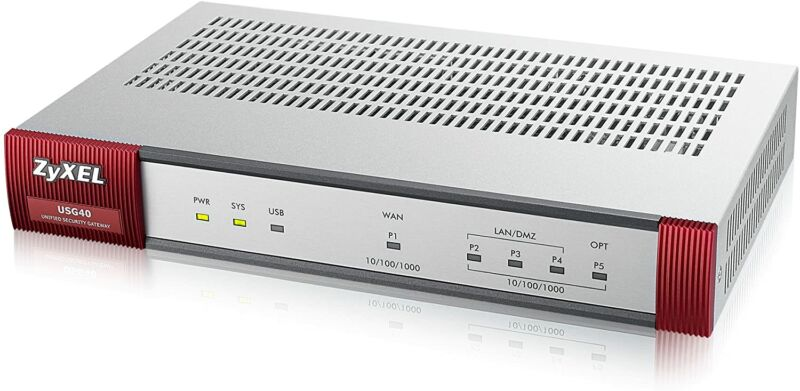 Promotional image of computer router.