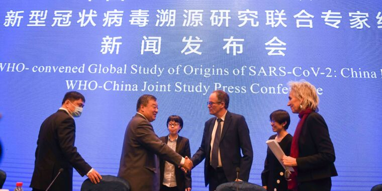 Under intense pressure, WHO skips summary report on coronavirus origin - Ars Technica