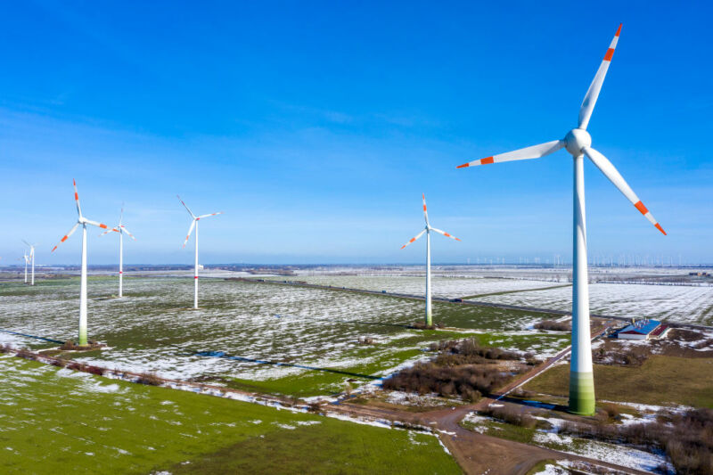 Image of wind turbines.