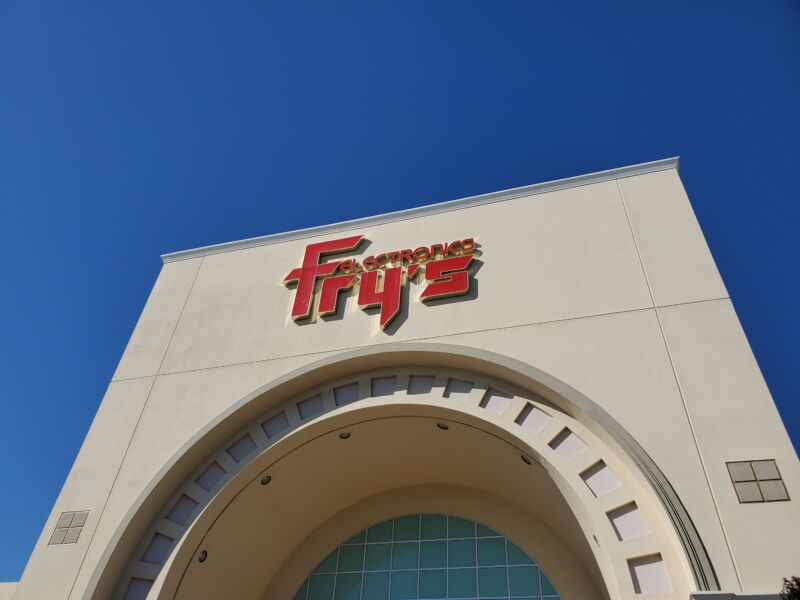 Fry's Electronics in Fremont, CA.