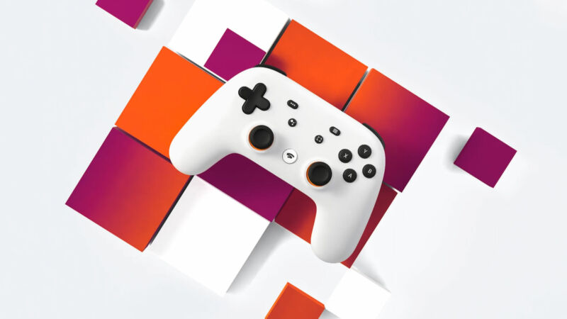 Promotional image of video game controller.