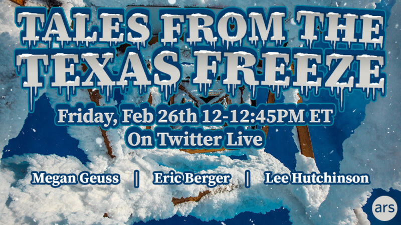 Live chat: Ars Texas on living through last week's arctic adventure