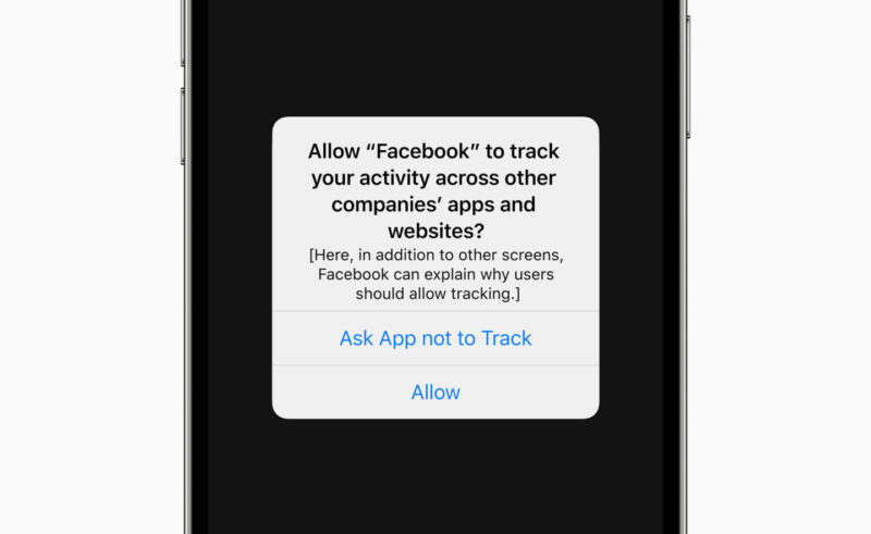 Screenshot of an Apple app asking for privacy permissions.
