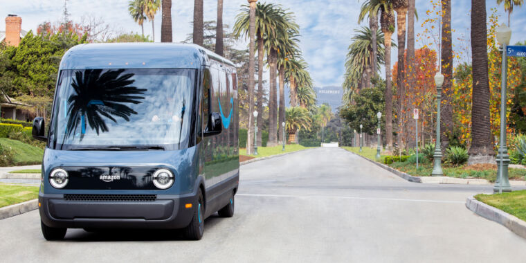 Amazon begins delivering packages with prototype electric trucks