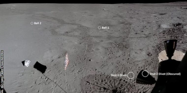 Remastered images reveal how far Alan Shepard hit a golf ball on the Moon thumbnail