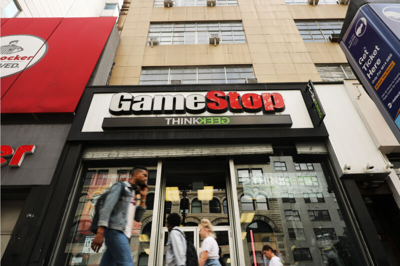 Hi, yeah, how much can I get by trading in this slighty used share of GameStop stock?