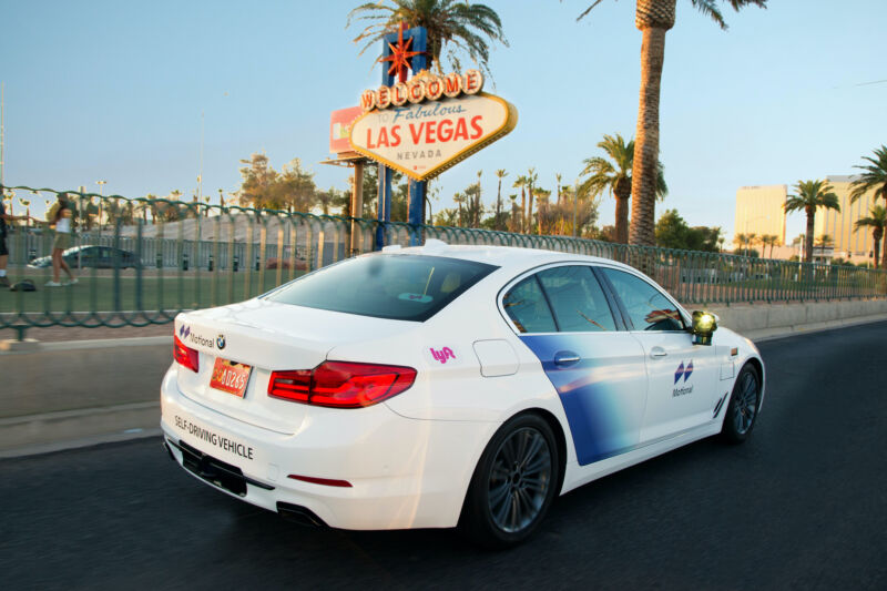 A Motional self-driving car in Las Vegas.