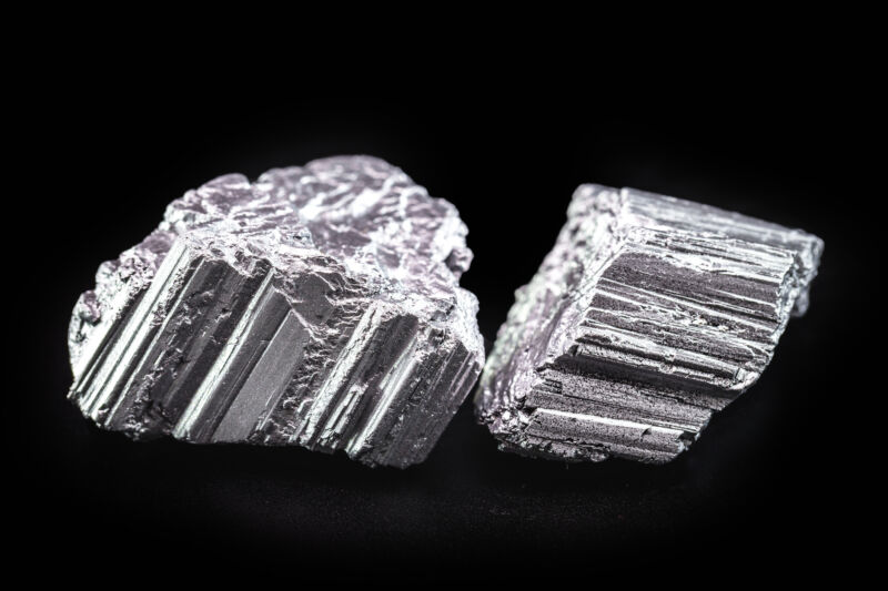 Neodymium stones, part of the rare earth group, are used in the tech industry.