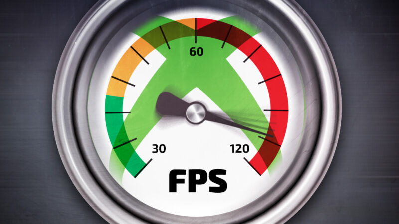 A cartoon speedometer is labeled FPS.