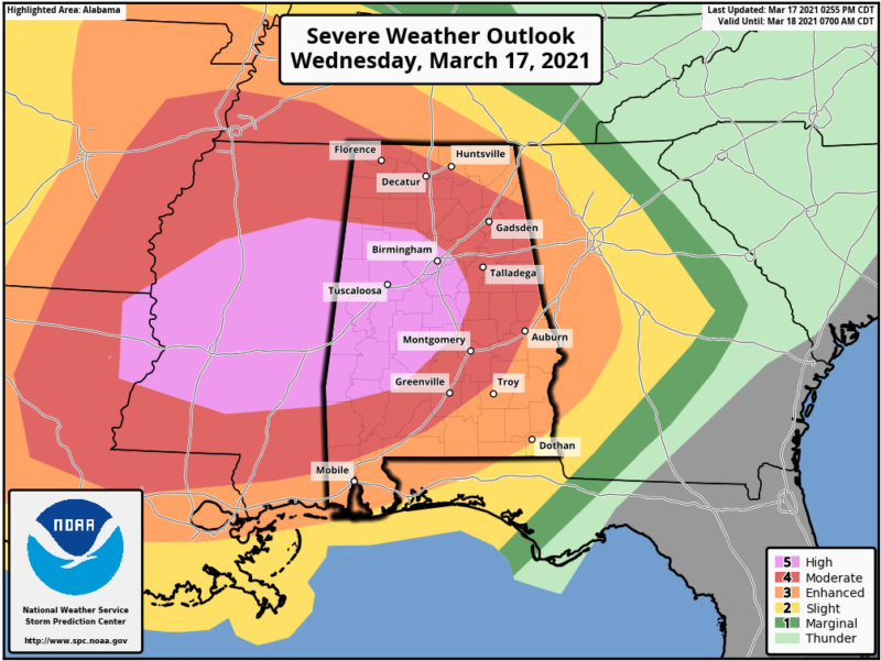 Severe weather outlook for Wednesday and Wednesday night.