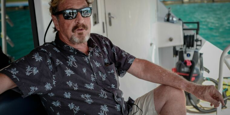 Feds indict John McAfee for cryptocurrency pump-and-dump fraud thumbnail