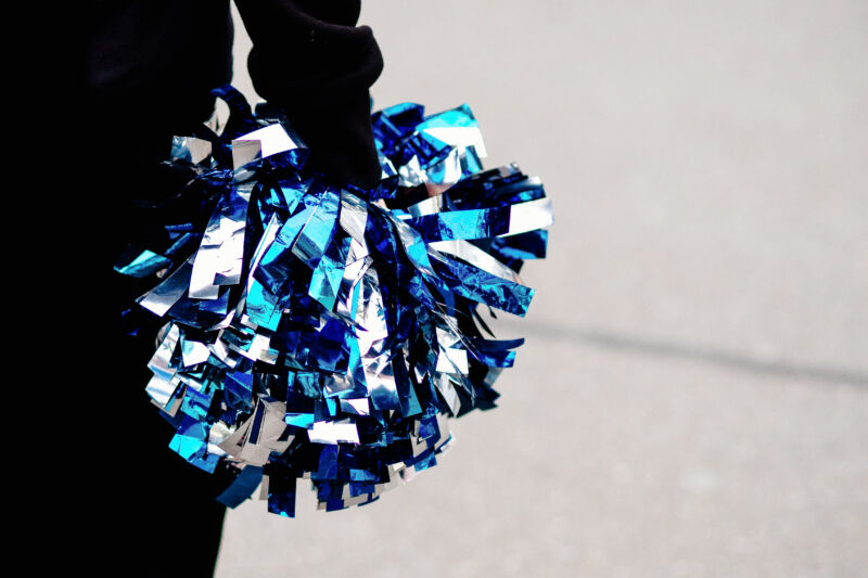 The manipulated images showed the cheerleaders holding much less innocent things than pompoms.