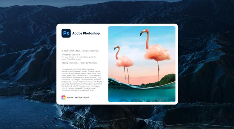 Adobe Photoshop in macOS Big Sur.