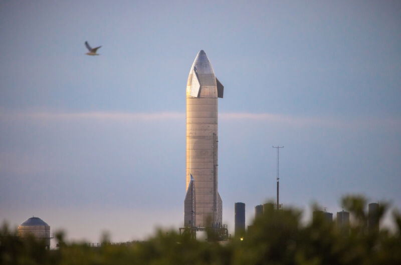 Starship SN10 on the pad on Wednesday, March 3, 2021.