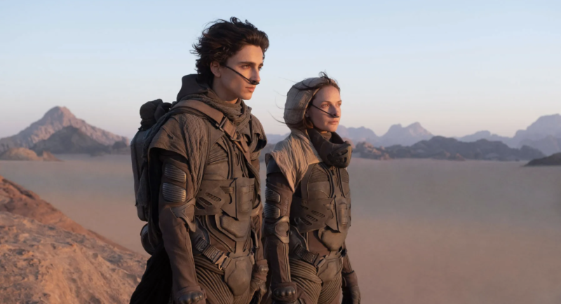 A shot from the upcoming <em>Dune</em> adaptation, which will hit theaters and HBO Max this year.
